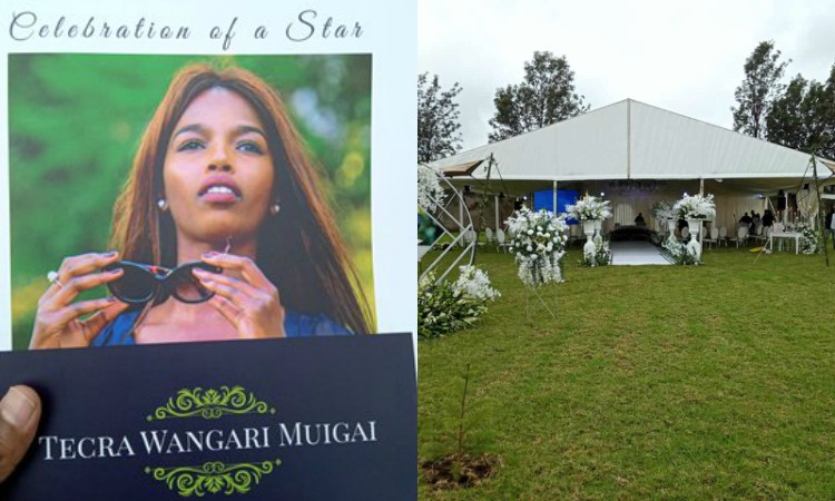 Lala salama! Photos from Tecra Muigai's private burial