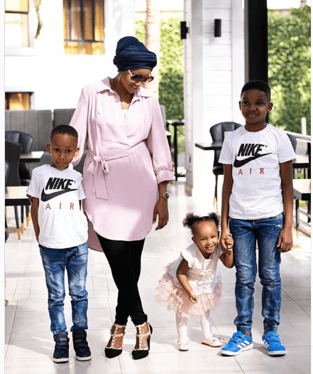 Lulu Hassan and her kids