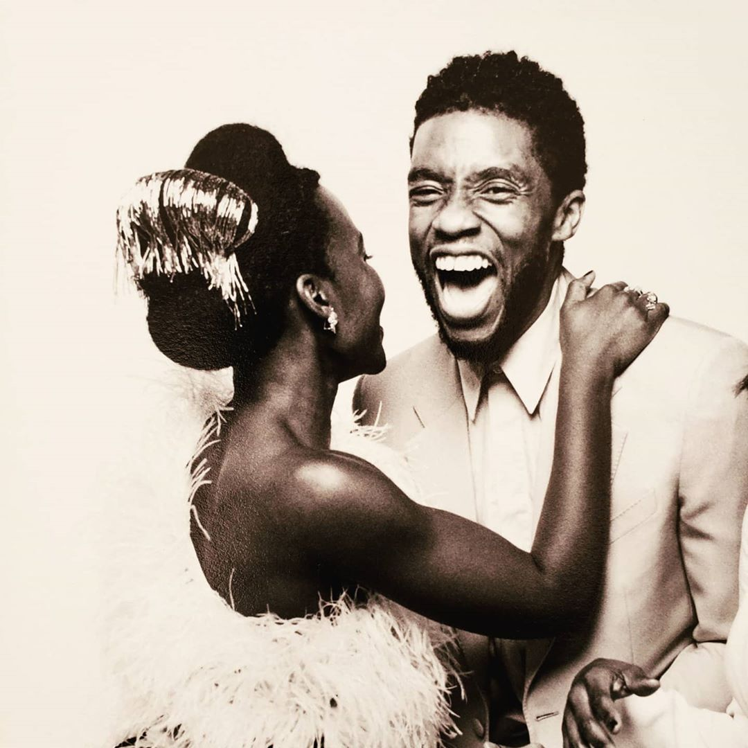 Chadwick Boseman and Lupita