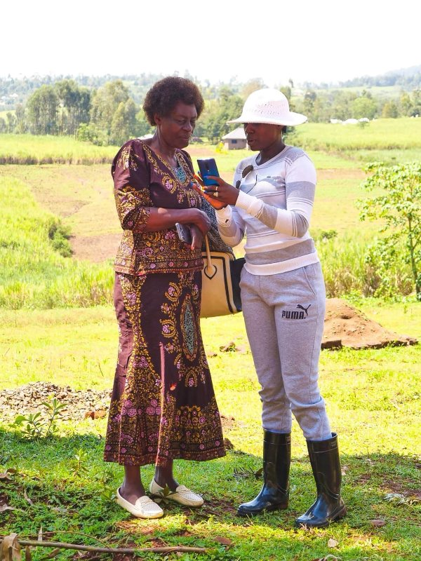 Akothee with her mum