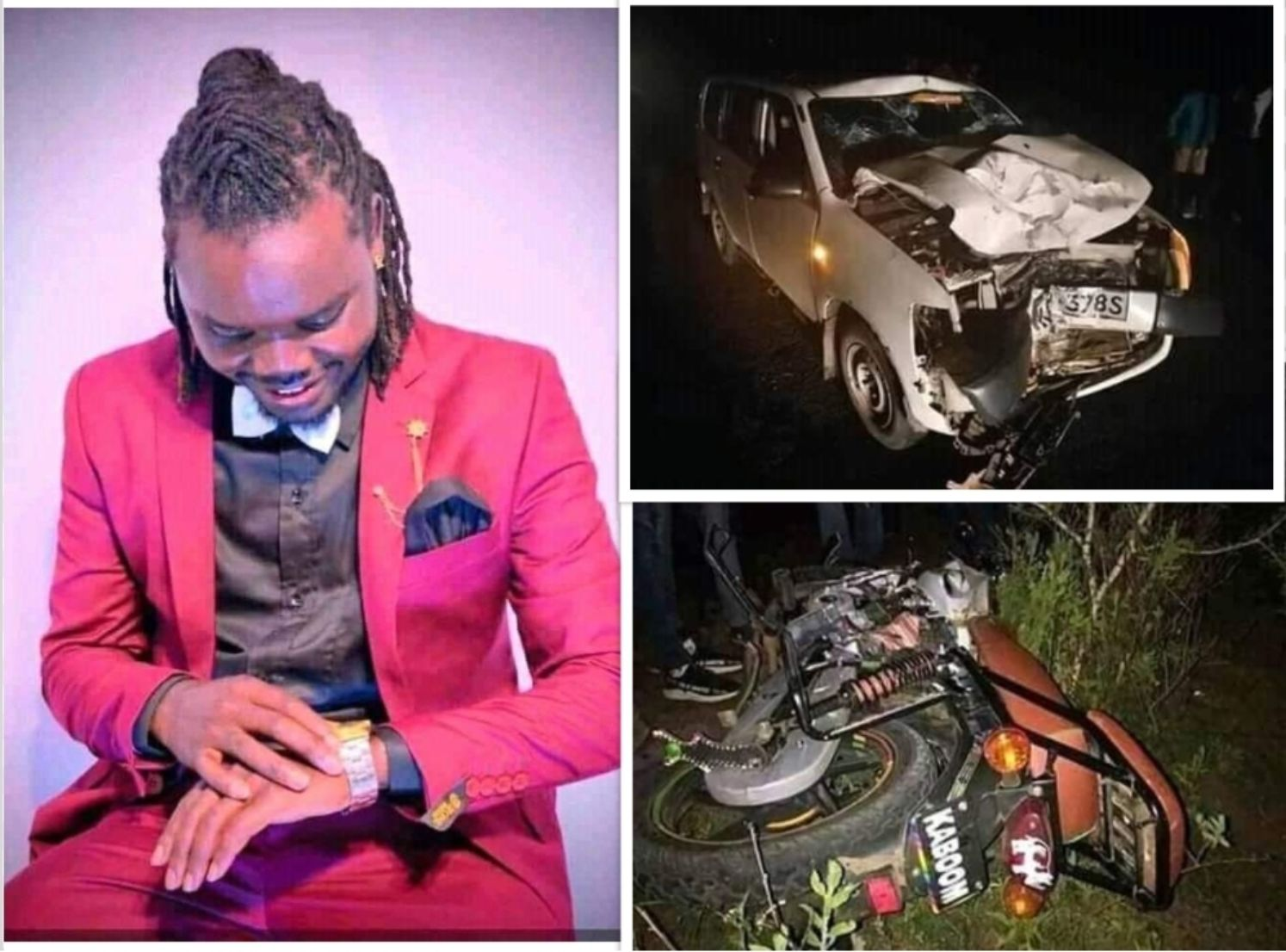 RIP! Kalenjin star Rhino Kaboom breathes his last after gruesome accident (Photos)