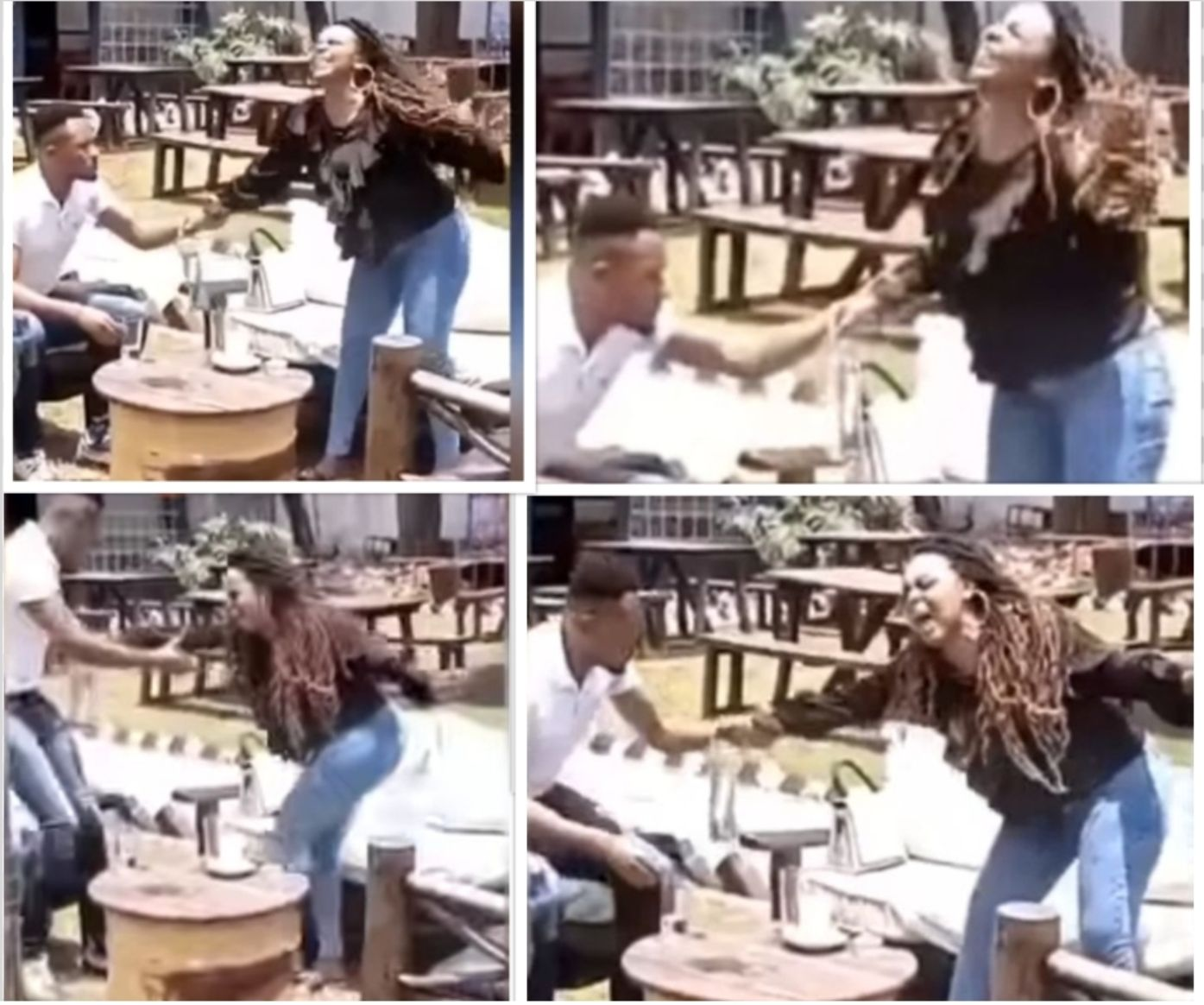 DJ Mo responds to viral video of his public fight with Size 8